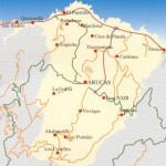 Kart over Arucas Gran Canaria