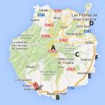 Kart over Las Palmas Gran Canaria