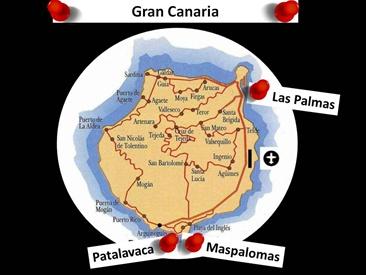 Kart over Patalavaca Gran Canaria