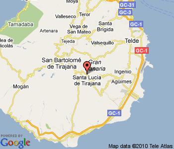 Kart over Santa Lucia de Tirajana Gran Canaria