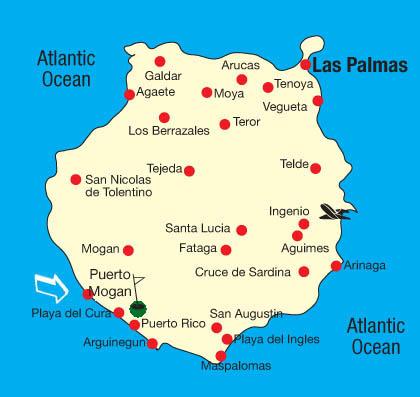 puerto rico spania kart Kart over Taurodalen Gran Canaria puerto rico spania kart