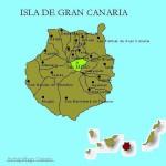 Kart over Vega de San Mateo Gran Canaria