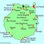 Kart over Firgas Gran Canaria