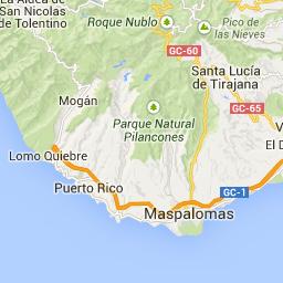 Kart San Nicolás de Tolentino Gran Canaria