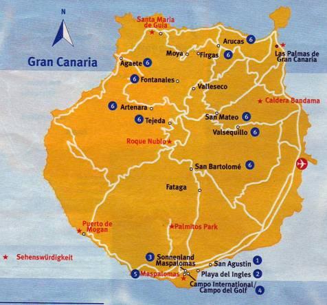 Kart Sonnenland Gran Canaria