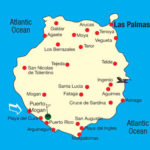 Kart over Taurodalen Gran Canaria