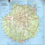 Kart over Tejeda Gran Canaria